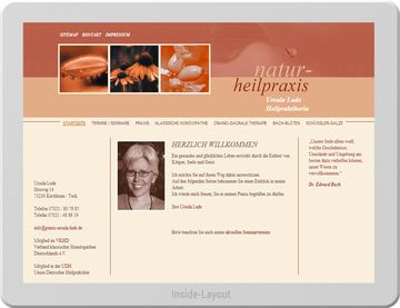Website für eine Naturheilpraxis
