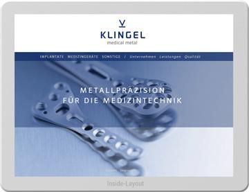 WebsiteRelaunch für KLINGEL Medical