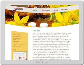 Website für Mangold Naturheilpraxis