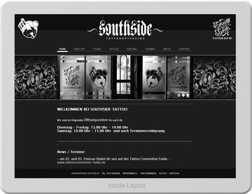 Website eines Tattoo-Studios